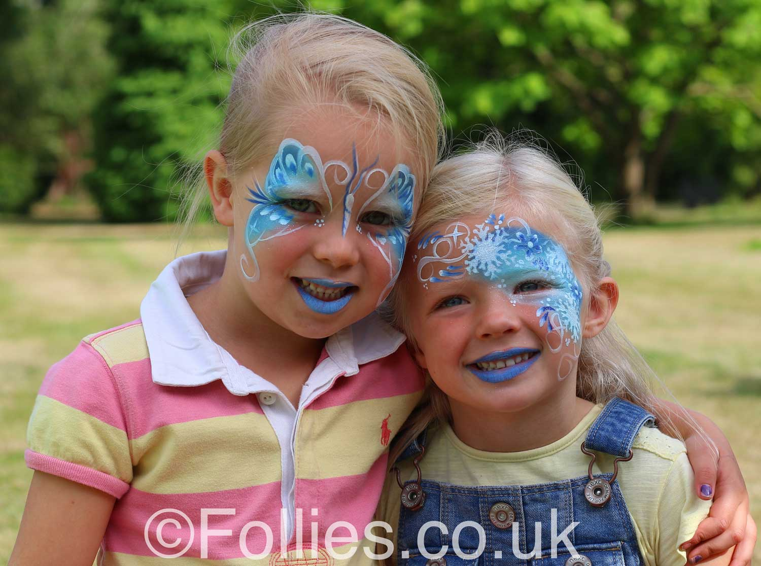 Face Paint Butterflies| Follies Face & Body Art