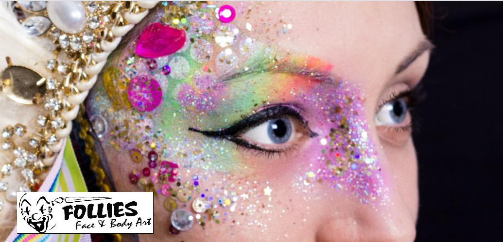 glitter festival make up courses