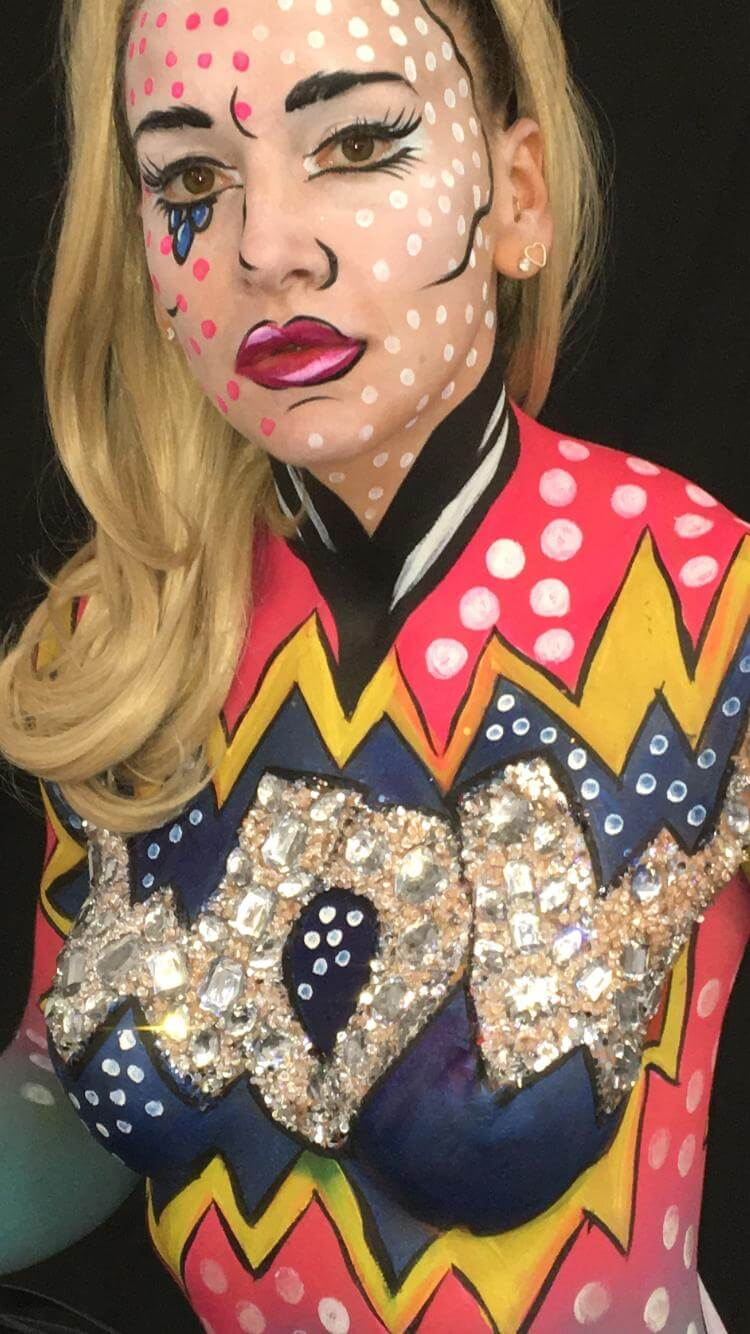 One Day Festival Glitter And Body Art Class 5 Follies Face And Body Painters