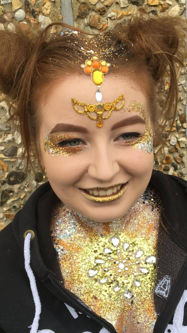 One Day Festival Glitter And Body Art Class 7 Follies Face And Body Painters